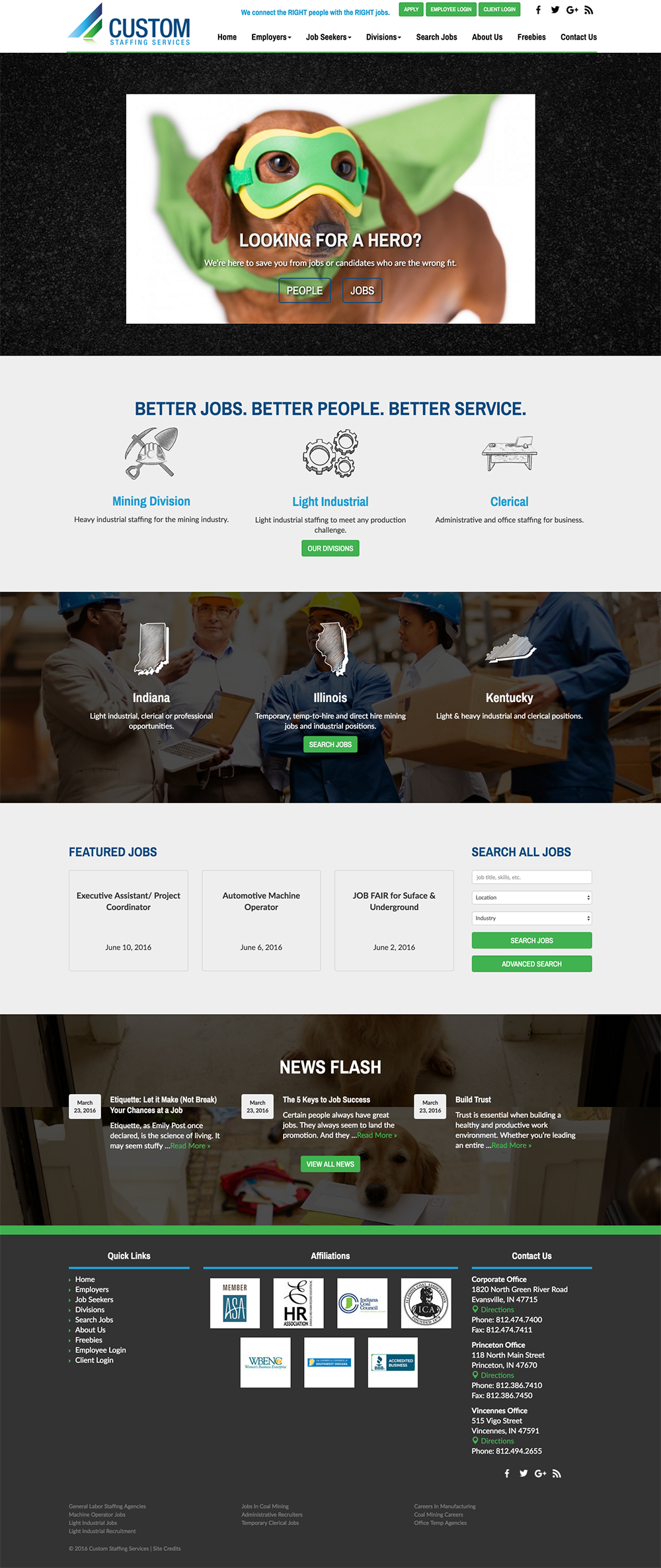 custom-staffing-website