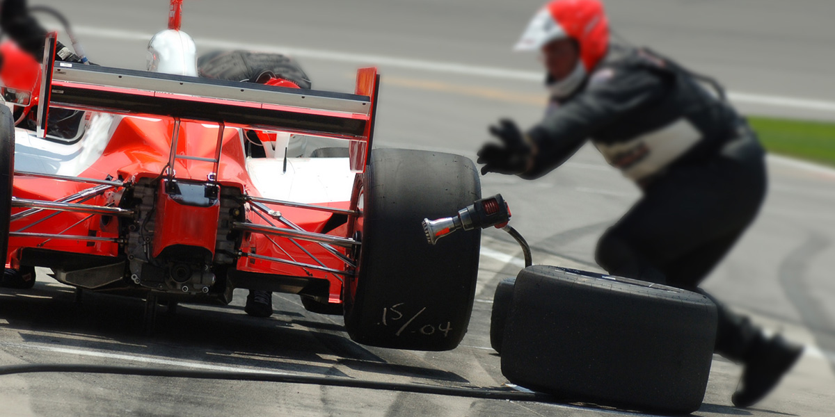 How Not to Change Four Tires in Under 2 Seconds