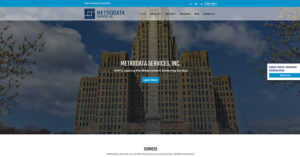 Metrodata Services Website Screenshot