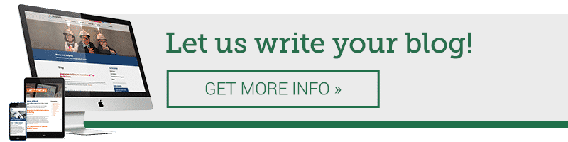 Let us write your blog! GET MORE INFO