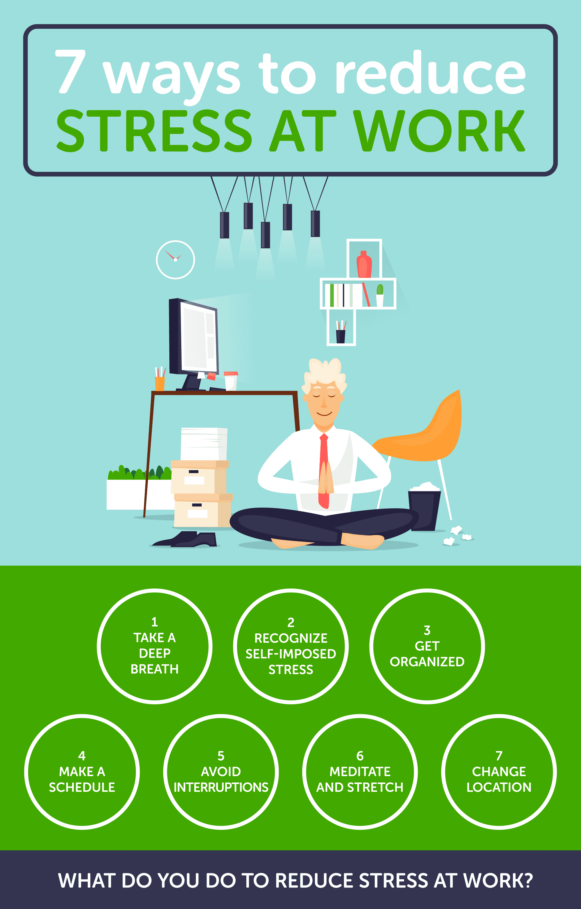 Stress at Work Infographic