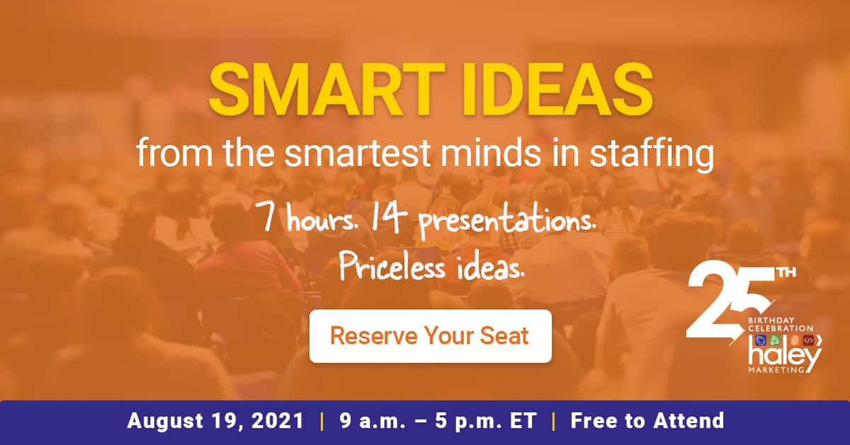 August's Must-Attend Staffing Industry Event: SMART IDEAS Summit (preview video)